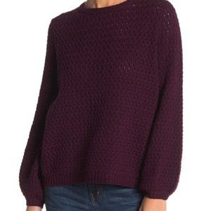 14th & Union Popcorn Knit Sweater in Purple